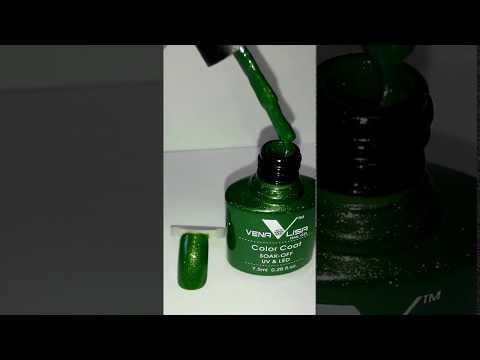 Палитра гель лаков Venalisa (Canni) № 960 глубоко-зеленый