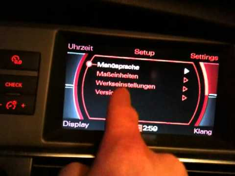 Audi A6 4f Mmi 2g Softwarestand Update Youtube