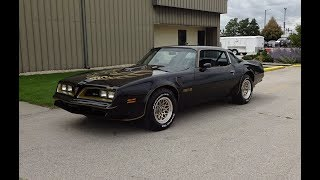 1978 Pontiac Trans Am Special Edition in Black & Engine Sound on My Car Story with Lou Costabile