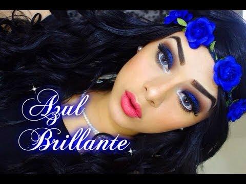 Maquillaje Azul Brillante (Peticion chicas de  instagram)
