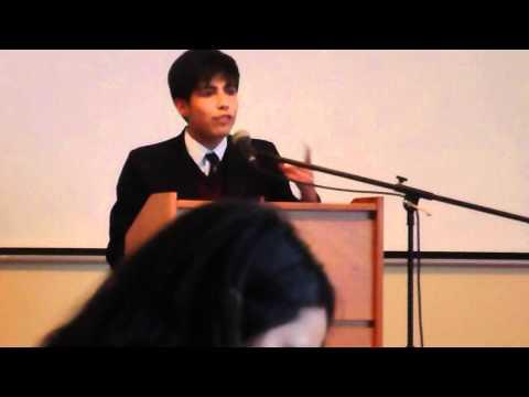 English Debate Competition Speaker 1