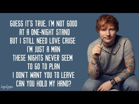 Ed Sheeran - Stay With Me (Lyrics)