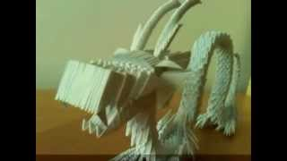 3d Modular Origami Chinesse Dragon. My First