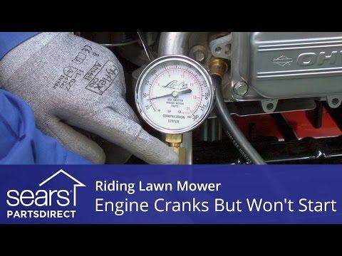 Riding Lawn Mower Engine Cranks But Won't Start