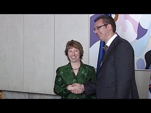 Ashton backs Serbia's new PM in his bid to accelerate EU membership