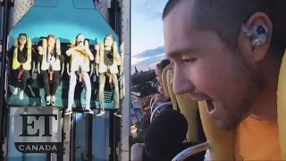 Bastille's Dan Smith Performs On Roller Coaster