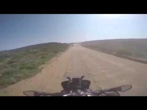 BMW Motorcycle Crash in South Africa on gravel road