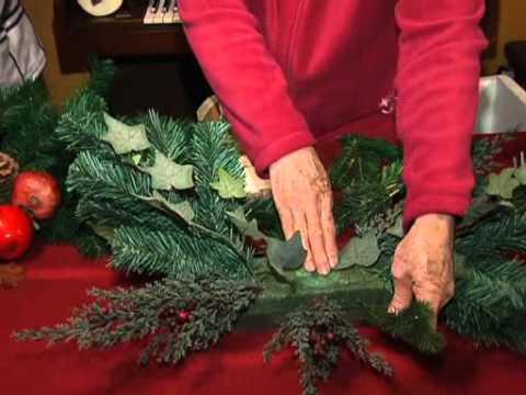 Centro de mesa para navidad youtube - Centros florales navidenos ...