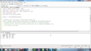 how to create virtual table and how to use it