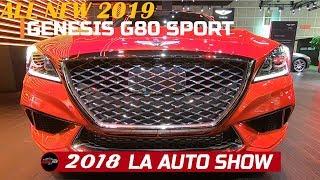 2019 Genesis G80 Sport  Exterior and Interior Walkaround - 2018 LA Auto Show