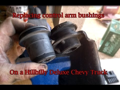 Replacing upper control arm bushings and brake rotors on a Hillbilly Deluxe Chev
