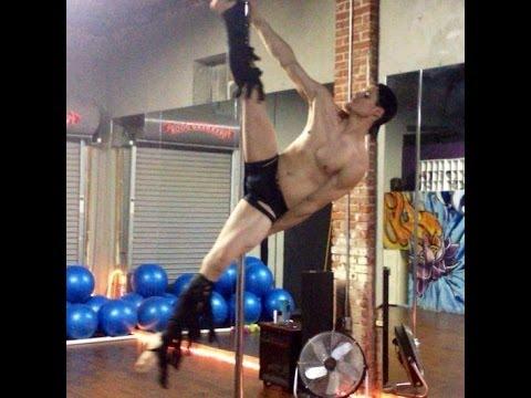 Venom Lee male pole dancer training for Nude 10