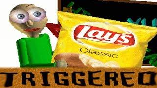 BALDI IS TRIGGERED while eating Chips - Baldi Loves Chips [Baldi's Basics Mod]
