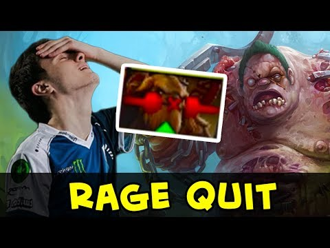Miracle Pudge Top-1 MMR vs 3k — rage quit