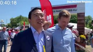 How many Democratic presidential candidates can Andrew Yang name in under a minute?