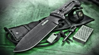 NEW! Bushcraft / Survival Knife - Schrade SCHF52M Frontier - Micarta