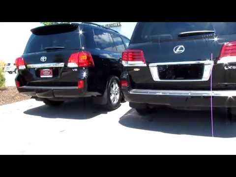 2013 Toyota Landcruiser vs 2013 Lexus LX 570 exterior differences front and back Review