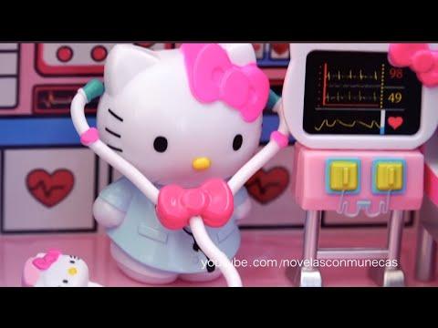 Avión y ambulancia de Hello Kitty con hospital | Muñecas y juguetes con Andre para niñas y niños