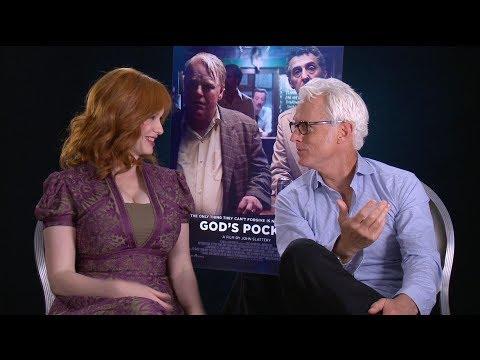 John Slattery & Christina Hendricks talk 'God's Pocket' and remember the late Philip Seymour Hoffman