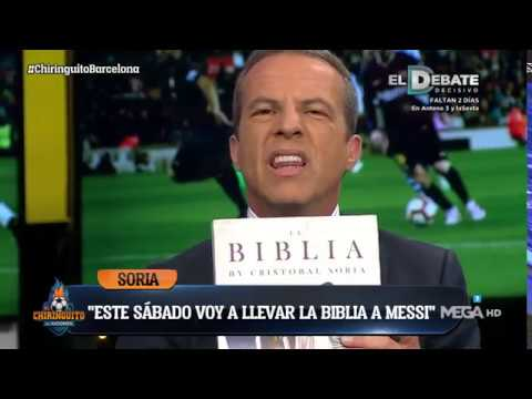 """Cristóbal Soria: """"Este SÁBADO le voy a llevar la 'BIBLIA' a MESSI"""""""