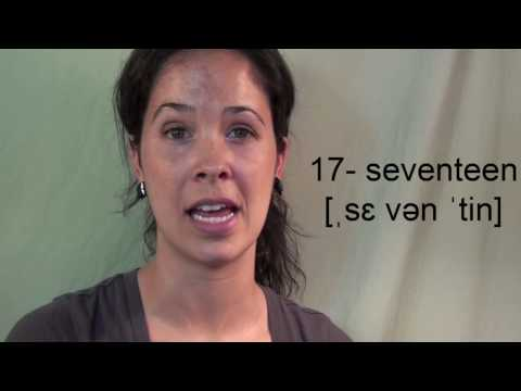 How to Pronounce Numbers 11 – 19:  American English