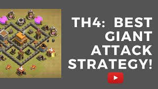 TH4: Clash of Clans best giant attack strategy!