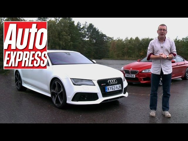 BMW M6 Gran Coupe vs Audi RS7 - Auto Express - YouTube