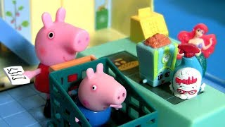 Peppa Pig Toys Little Grocery Store Carry Case NEW 2017 with Mini Cash Register Toy