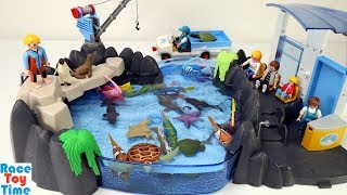 Toy Sea Animals in the Aquarium Playset - Learn Animal Names For Kids