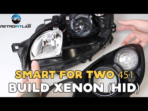Smart ForTwo 451. 2007-2014 how to build xenon (HID) in your headlight. DIY