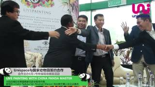 MOU signing ceremony between Zoo Negara and Unispace [Live Painting with China Panda Master
