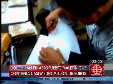 América Noticias - 090614 - Decomisaron maletines con medio millón de euros