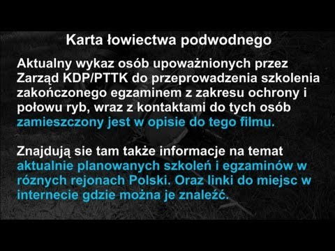 Karta łowiectwa Podwodnego - Polish Spearfishing Licence Rules