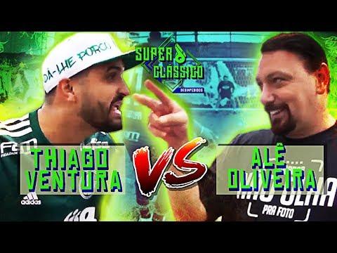 Thiago Ventura desafia Alê Oliveira no campo - Duelo Youtubers SuperClássico Vídeos de zueiras e brincadeiras: zuera, video clips, brincadeiras, pegadinhas, lançamentos, vídeos, sustos