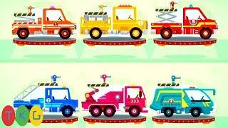 Xe Cứu Hỏa & Chú Khủng Long Con - 6 Fire Truck & Dinosaur | TopKidsGames (TKG) 328
