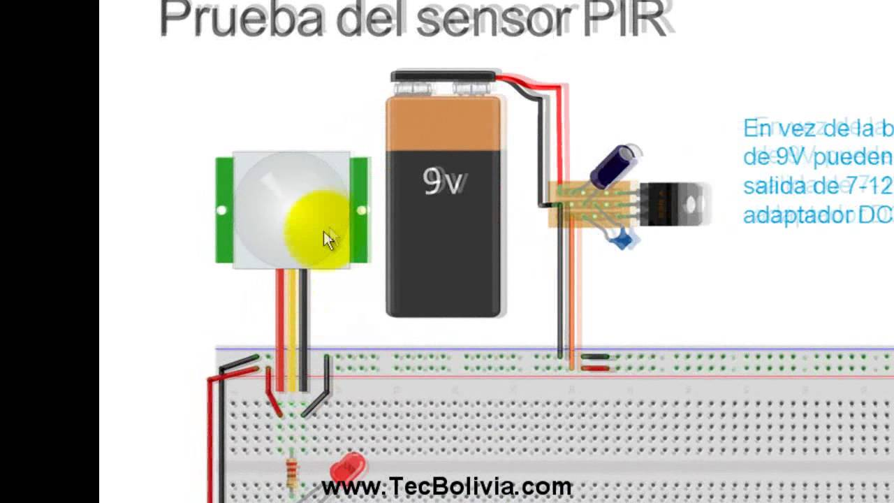 Luz autom tica con sensor de movimiento parte 1 youtube for Sensor de movimiento con alarma
