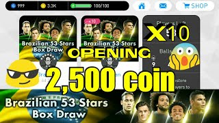Brazilian 53 Stars Box Draw Opening Pack 2,500 coin  PES 2018 Mobile