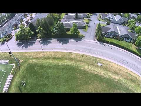 Phantom 2 Vision+ Buzz over Whatcom Community College