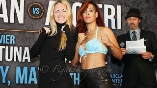 Heather Hardy VS. Noemi Bosques WEIGH-IN & FACE OFF!!!  #KhanAlgieri