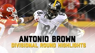Antonio Brown Goes for 108 Yards in Steelers Win   NFL Divisional Player Highlights