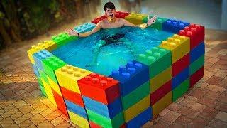 FIZEMOS UMA PISCINA COM LEGOS GIGANTES! ‹ NeagleHouse ›