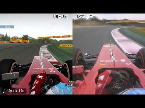 F1 2013 vs Real Life - Circuit de Catalunya