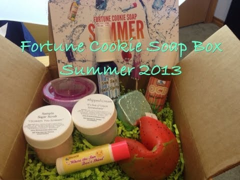 Fortune Cookie Soap Box Summer 2013