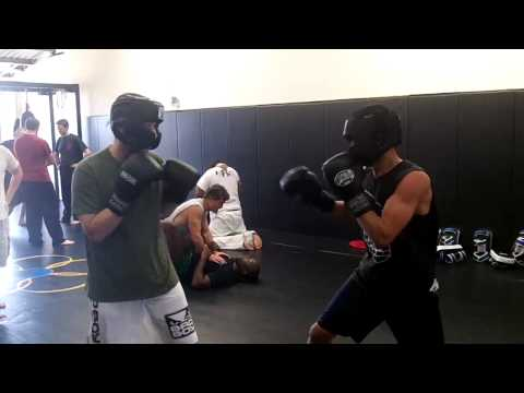 Boxing vs Tang Soo Do (round 1/4 hands only boxing training) at OC Open Martial Arts Image 1