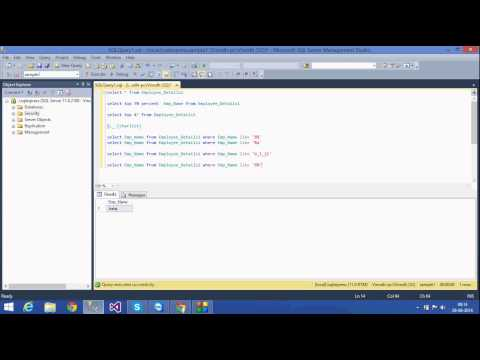 9 . SQL Tutorial -Telugu (Top And wildcards )