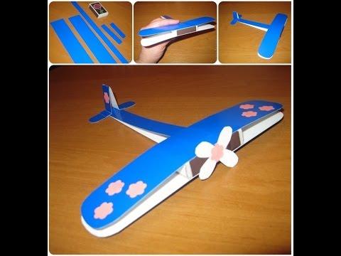Детские поделки самолётик