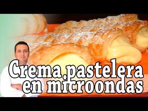 Crema pastelera en el microondas - Recetas de cocina