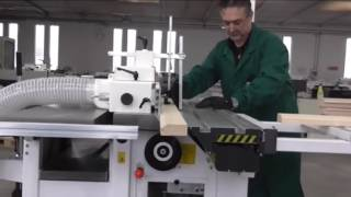 Making a door by Univesal Combined machine C300 or C400