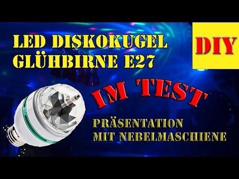 Party Lichteffekte - Lichteffekt Disco Licht LED GLÜHBIRNE Mit E27 Sockel Im Test Mit Nebelmaschiene
