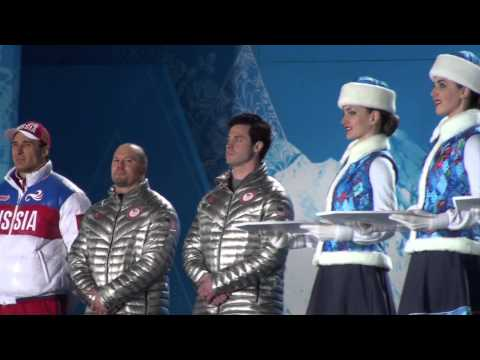Steven Holcomb & Steve Langton Sochi Olympics Medal Ceremony for 2-Man Bobsled